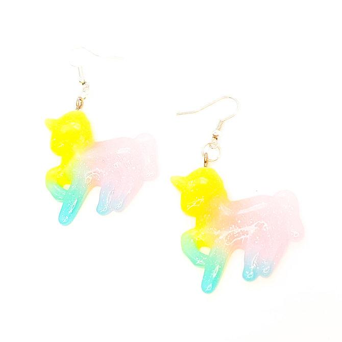 Pair of Sparkling Resin Earings