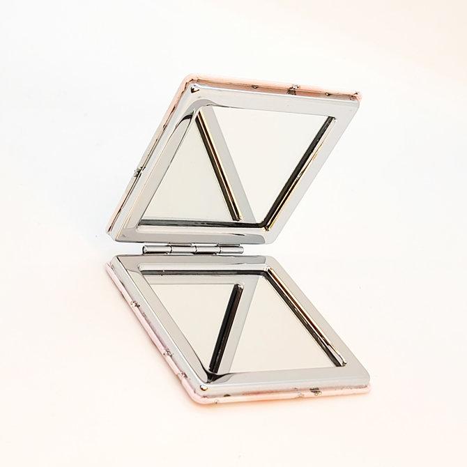 Miroir de poche à paillettes Licorne sophistiquée