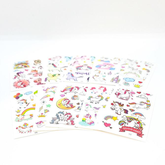La Licornerie Set of 10 unicorn temporary tattoos sheets