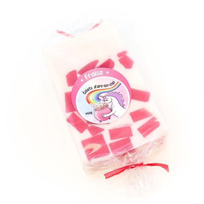 La Licornerie ♥♥ Savon au lait de chèvre et glycérine Éclats d'Arc-en-Ciel