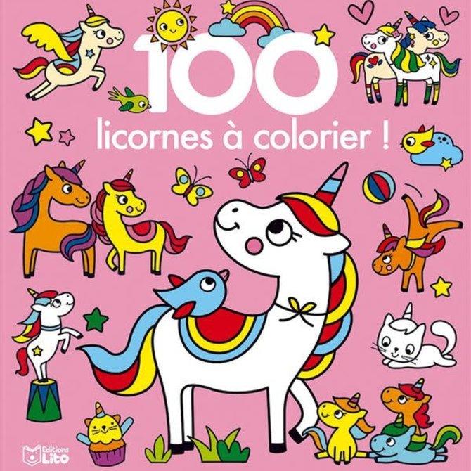 100 unicorns Coloring book