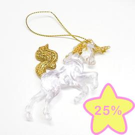 La Licornerie décoration sapin licorne doré