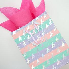 La Licornerie Pastel gift bag and shiny unicorns