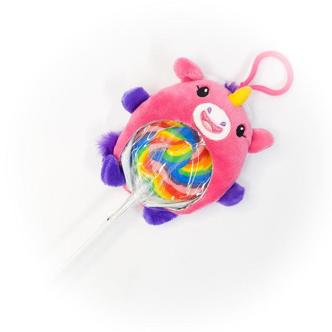 La Licornerie Lollipop and stuffed unicorn keychain