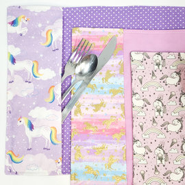 La Licornerie ♥♥ Handmade Tablemat with Utensils Compartment
