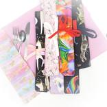 La Licornerie ♥♥ Napperon fait à la main avec pochette à ustensiles