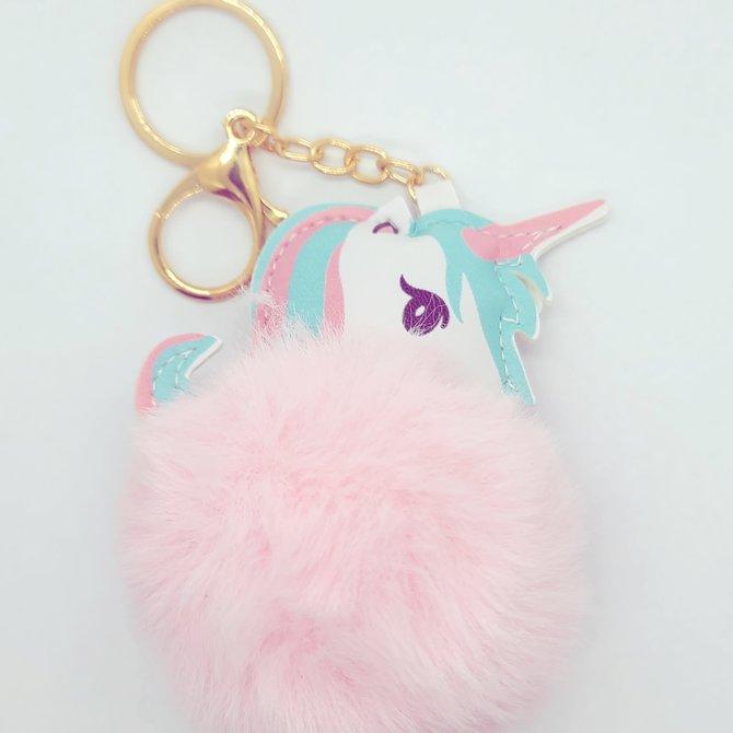 La Licornerie Pompom Unicorn Key Chain
