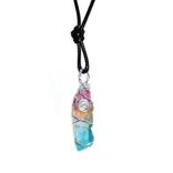 La Licornerie Collier quartz licorne arc-en-ciel