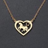 La Licornerie Collier licorne étoilée dans un coeur