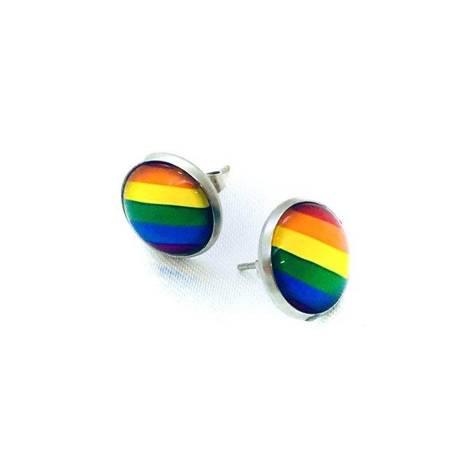 La Licornerie Rainbow Flag Earrings