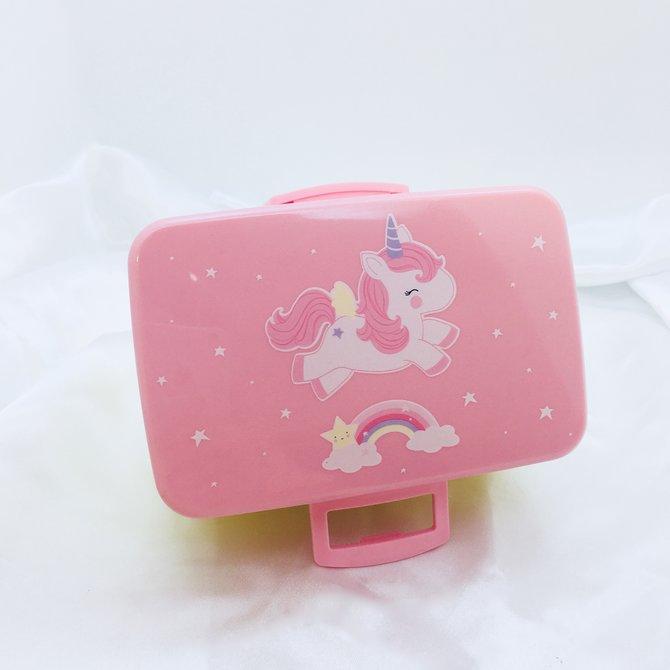 La Licornerie Boite à lunch licorne rose