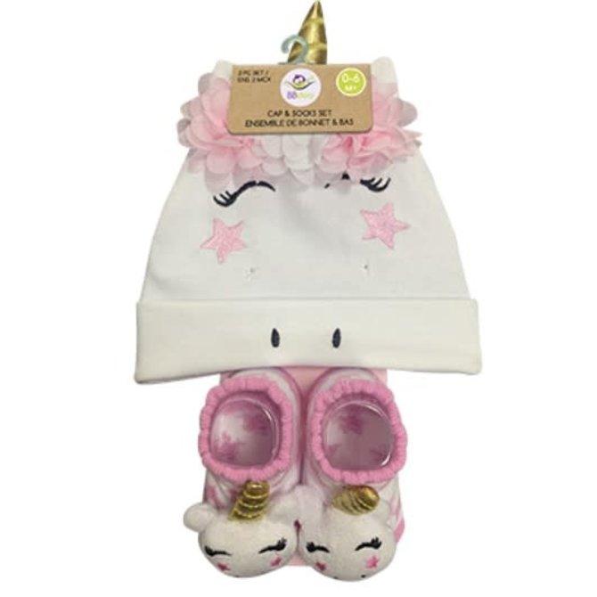 La Licornerie Ensemble Bonnet et bas licorne pour bébé