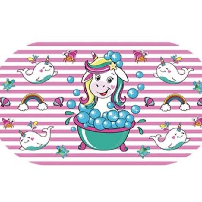 La Licornerie Tapis de bain licorne dans son bain