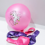 La Licornerie Ensemble de 10 ballons licornesques Roses et Mauves