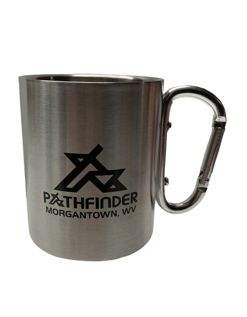 Pathfinder Pathfinder 10 oz. Carabiner Handle SS Mug *HAND WASH*