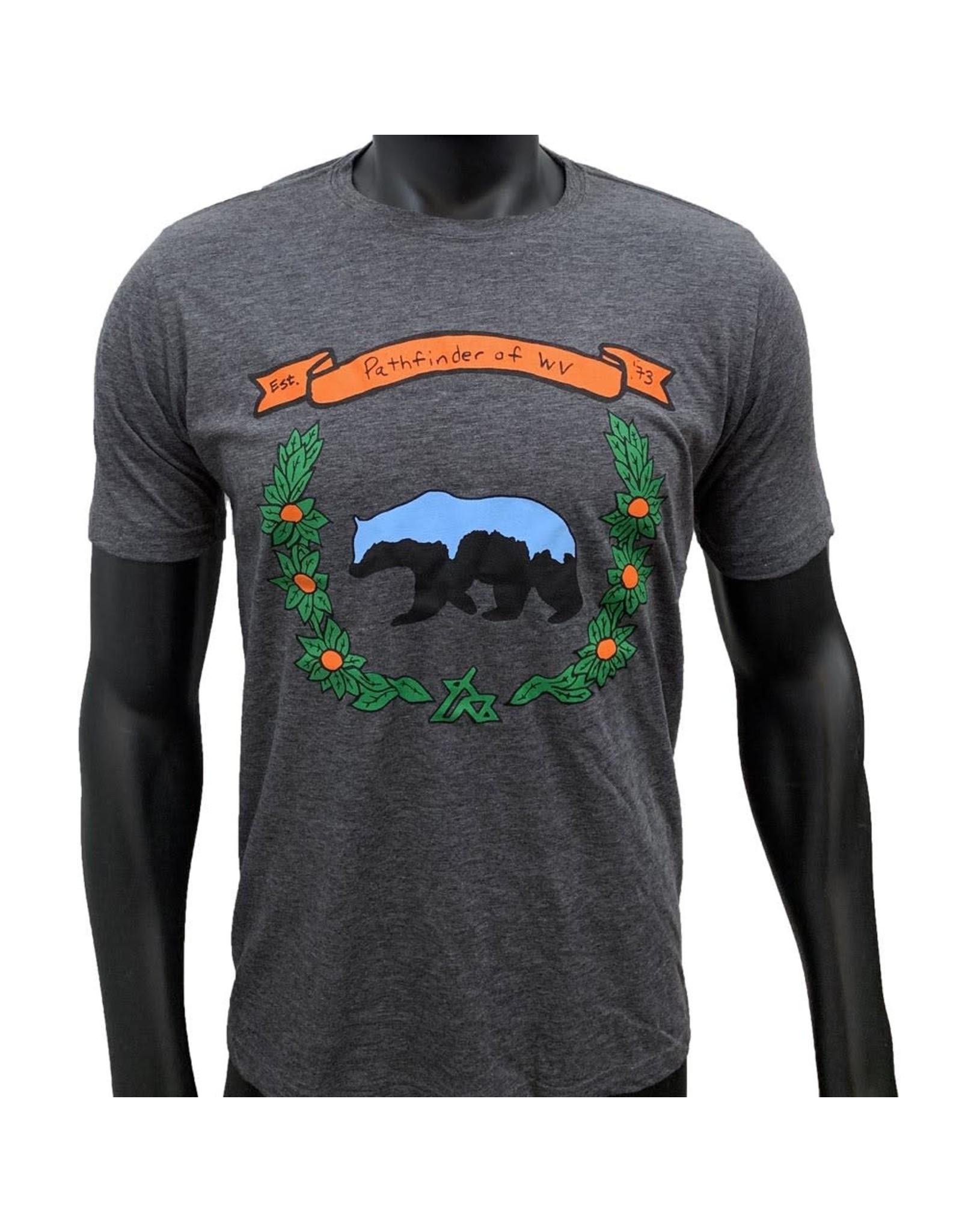 Pathfinder Black Bear Poly/Cotton Crew Tee
