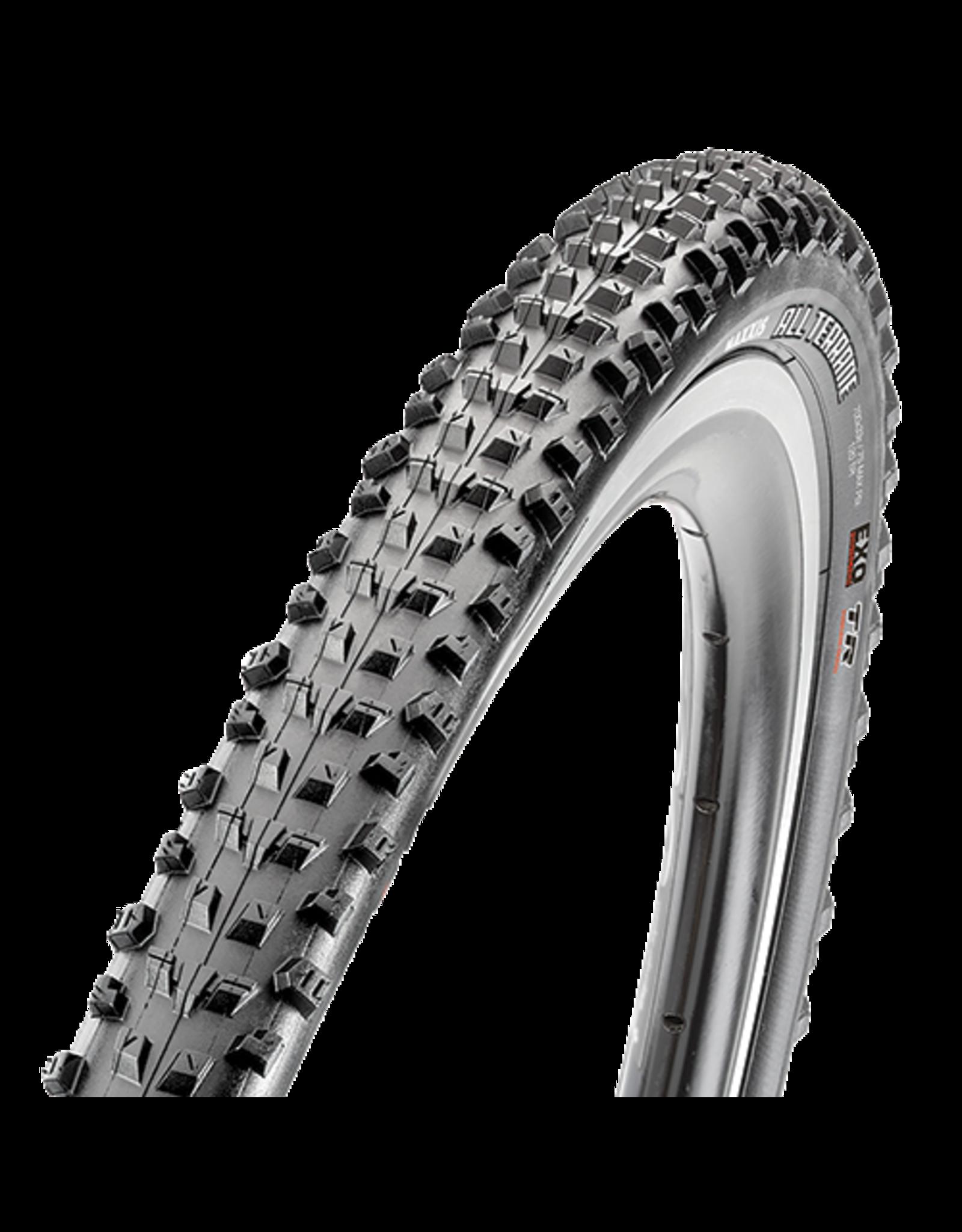 Maxxis All Terrane Tire - 700 x 33, Folding, Tubeless, Black, Dual, EXO, 120tpi