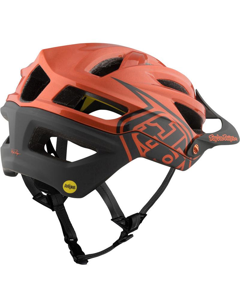 Troy Lee Designs TLD A2 Mips Decoy Helmet Grey/Orange Med/Large