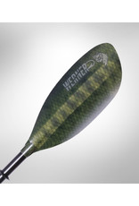 Werner Paddles Inc SHUNA HOOKED 2PC ADJ STD 240-260 Bass Green
