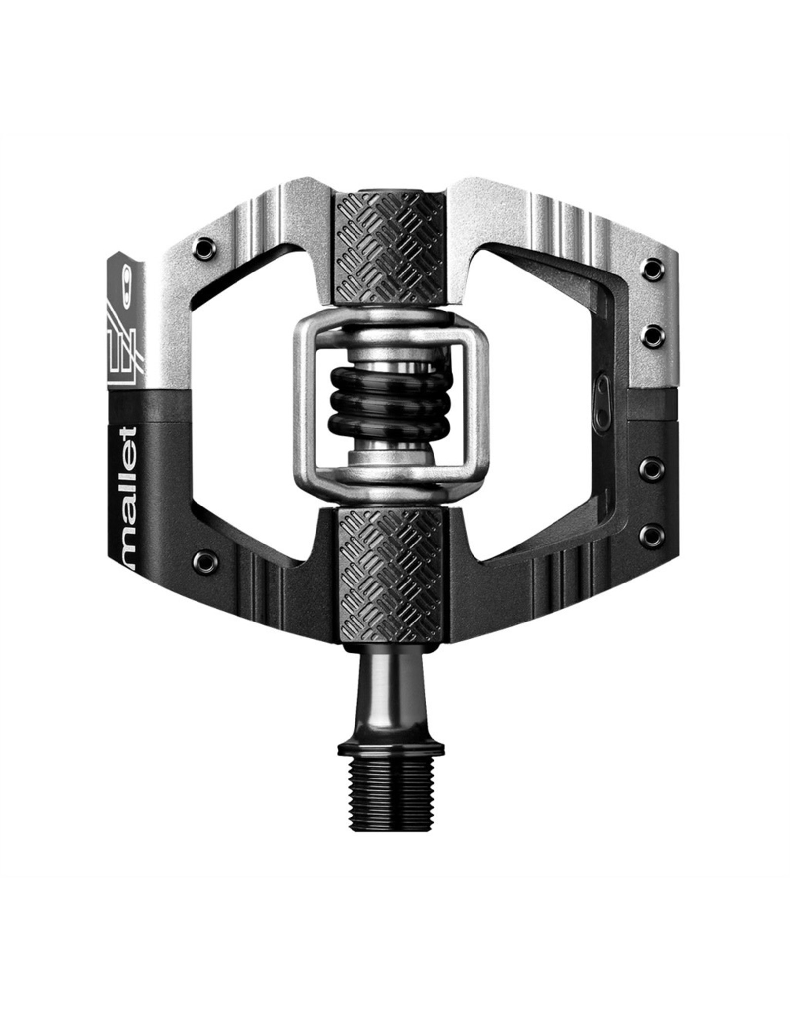 Crank Brothers Mallet Enduro Long Spindle Pedals, Black/Silver