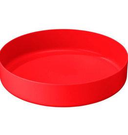 MSR DEEP DISH PLATE LG RED