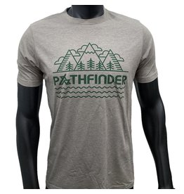 Pathfinder Mountain Poly/Cotton Crew Tee Ash/Green