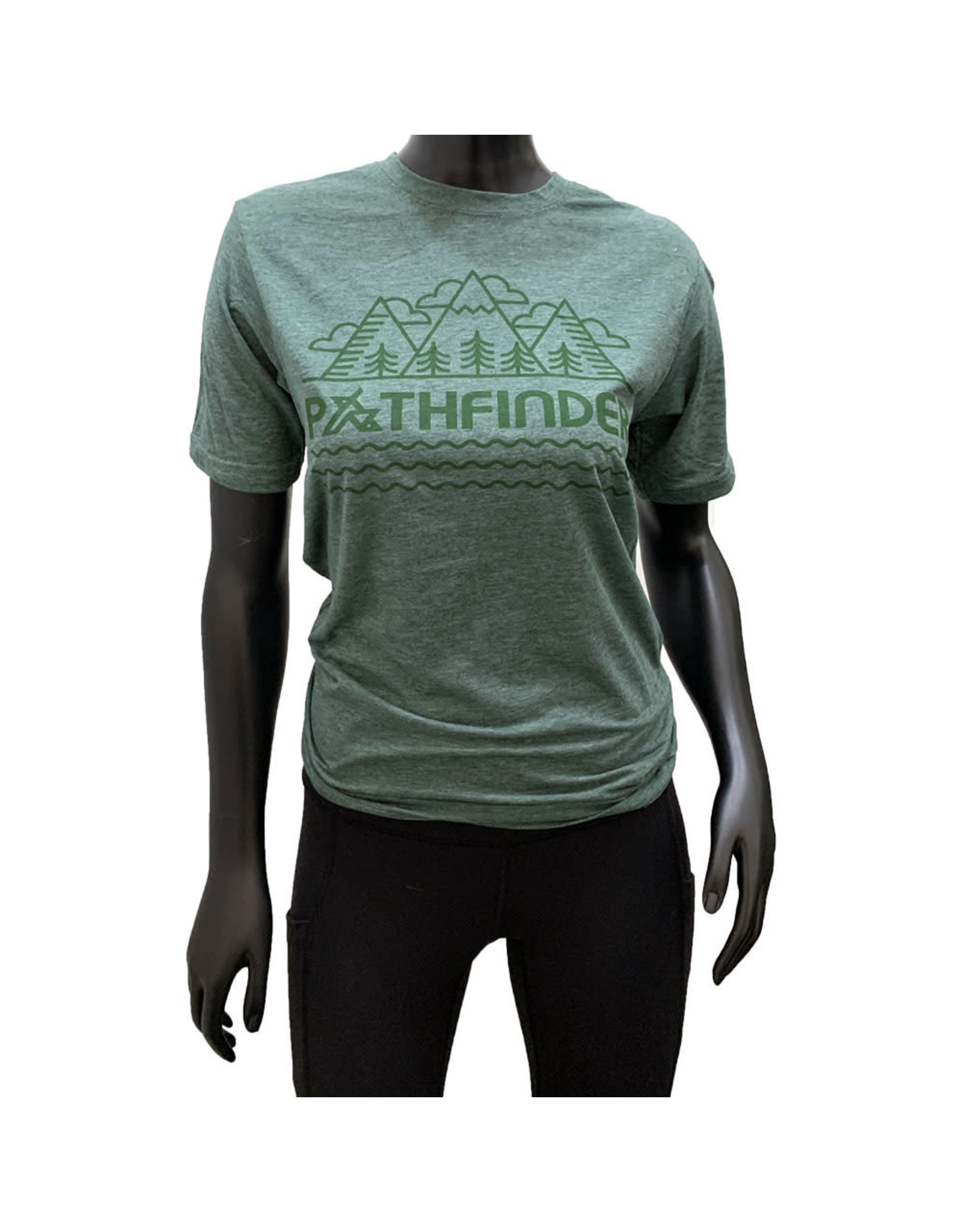 Pathfinder Mountain Poly/Cotton Crew Tee Royal Pine/Green