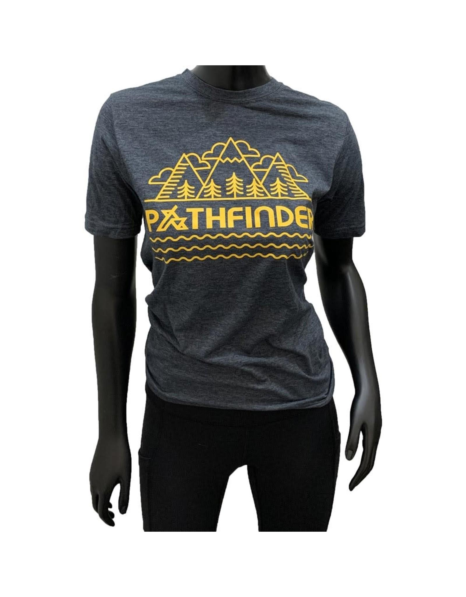 Pathfinder Mountain Poly/Cotton Crew Tee Antique Denim/Gold