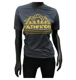Pathfinder Mountain Poly/Cotton Crew Tee Antique Denim/Gold