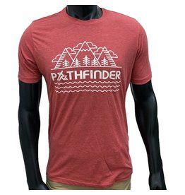 Pathfinder Mountain Poly/Cotton Crew Tee Red/White