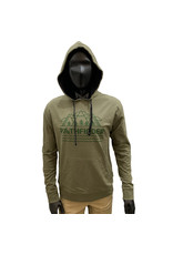 Pathfinder Mountain French Terry Hooded Pullover Military Green / Black