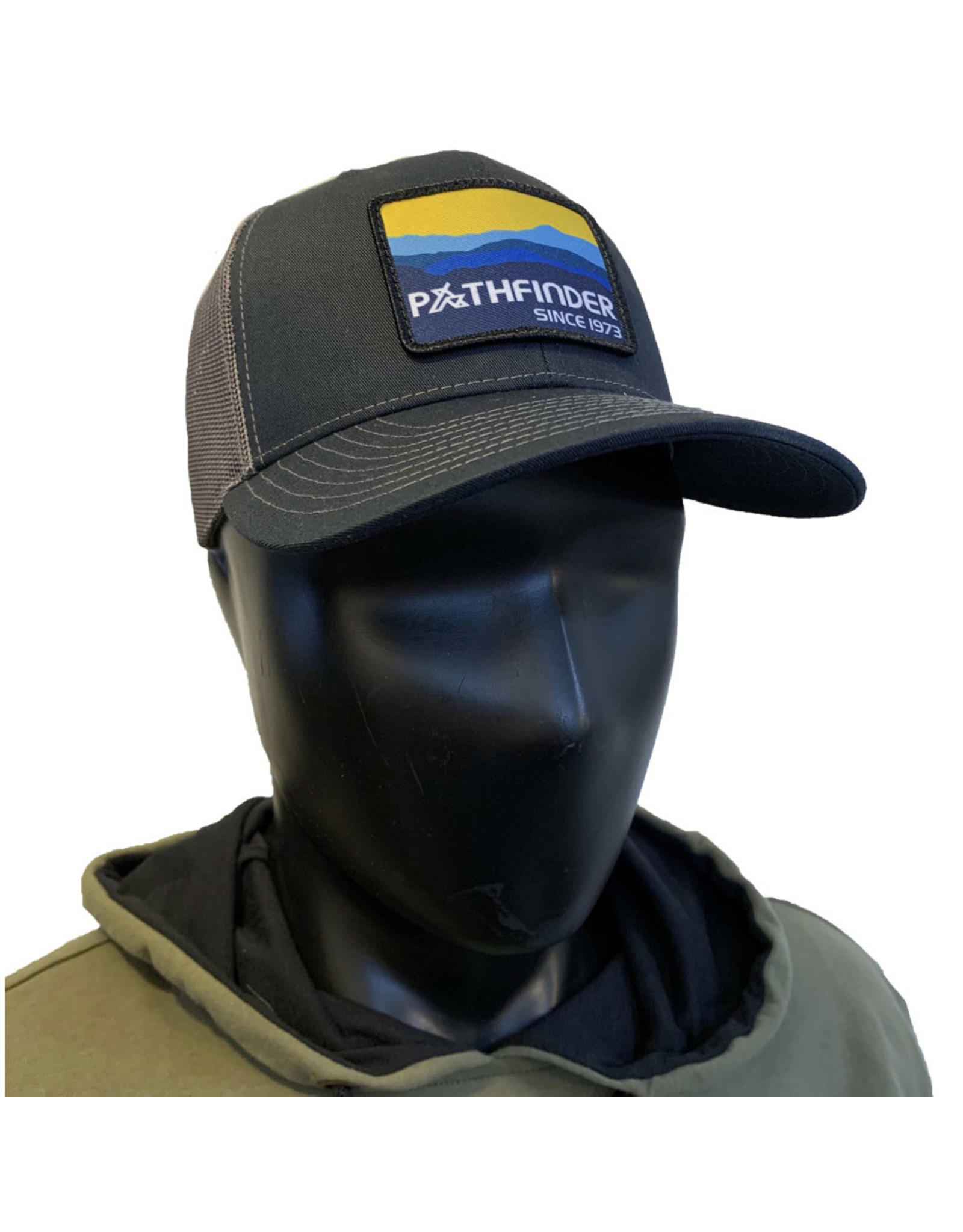Pathfinder Mesh Back Trucker Blue/Gold Mountains