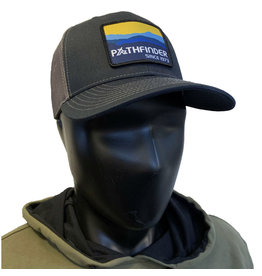 Pathfinder Mesh Back Trucker Blue/Gold Mountains