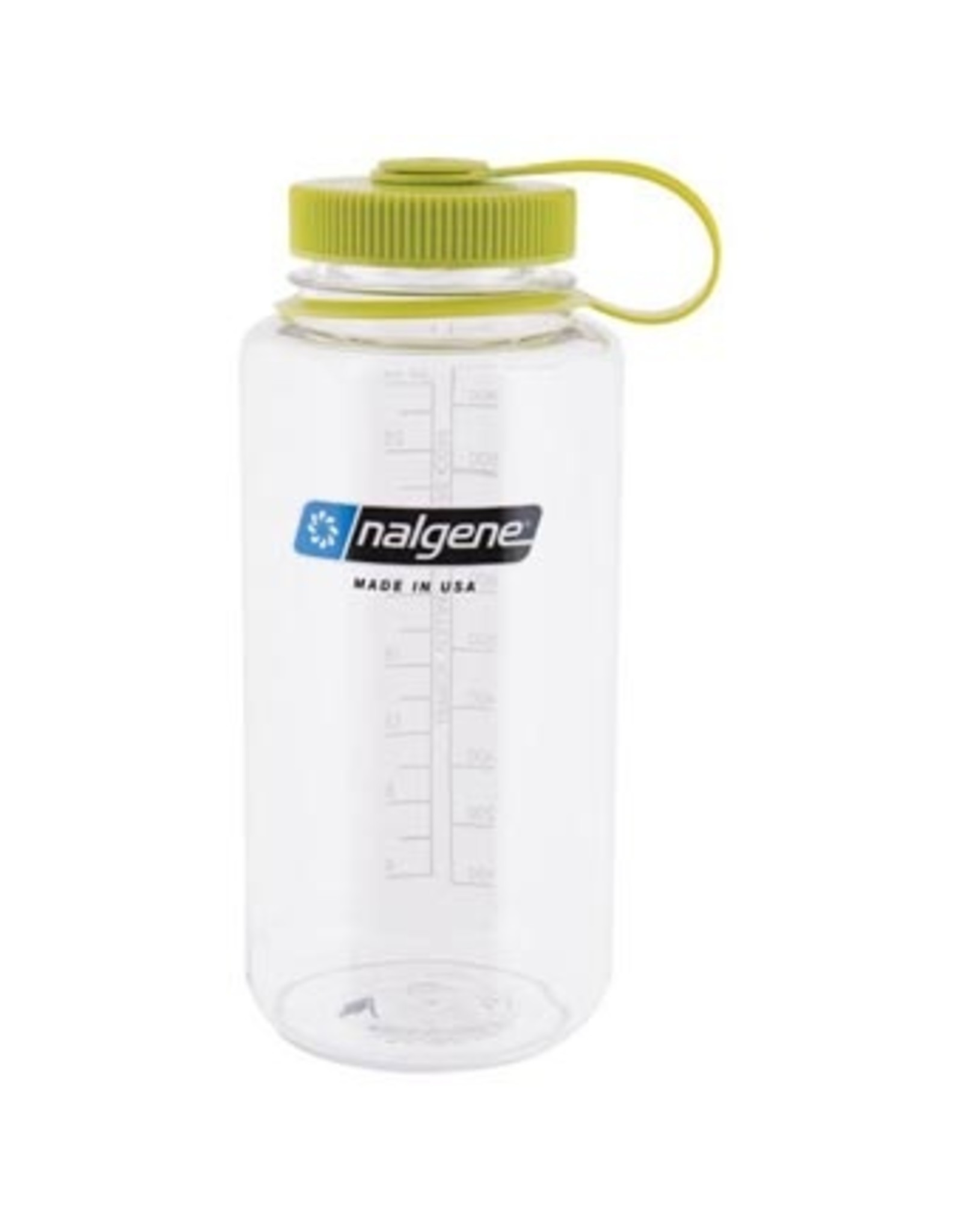 NALGENE Wide Mouth 32oz - Clear w/ Green