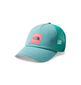 The North Face Women's LO PRO TRUCKER Hat Porcelain Green/Teaberry Pink