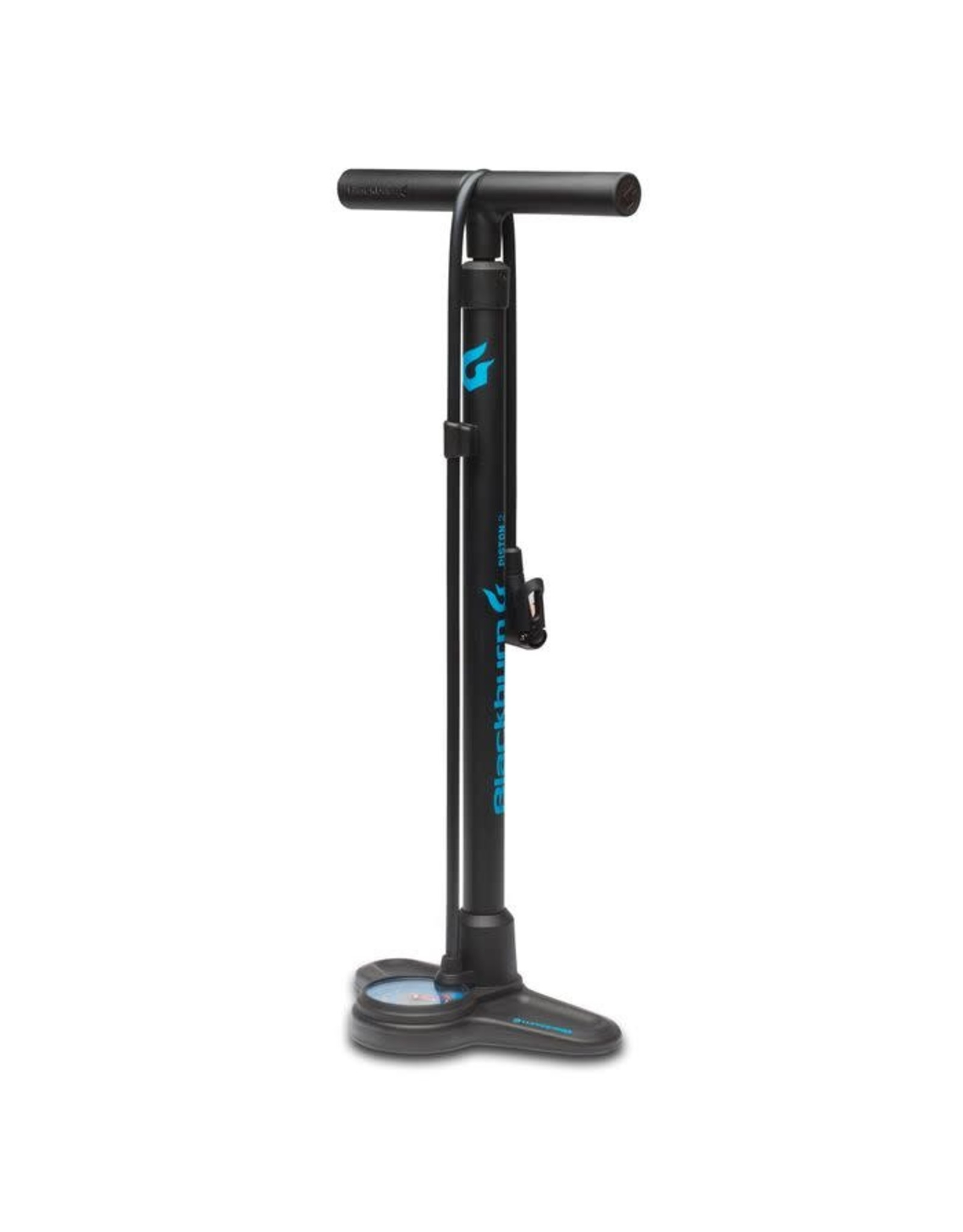 Blackburn Piston 2 Floor Pump Black/Cyan