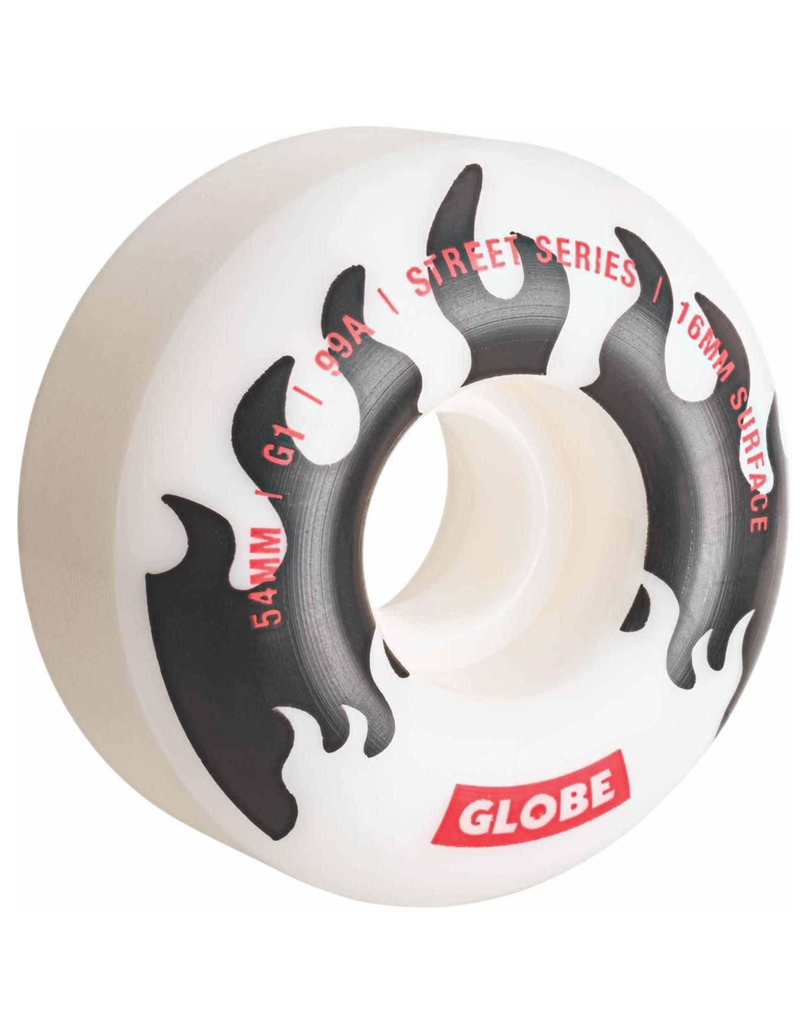 Globe G1 Street Wht/Blk/Flames - 54mm