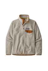Patagonia Women's Lightweight Synch Snap-T Pullover Oatmeal Heather w/Wood Brown