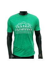 Pathfinder Mountain Poly/Cotton Crew Tee Envy/White