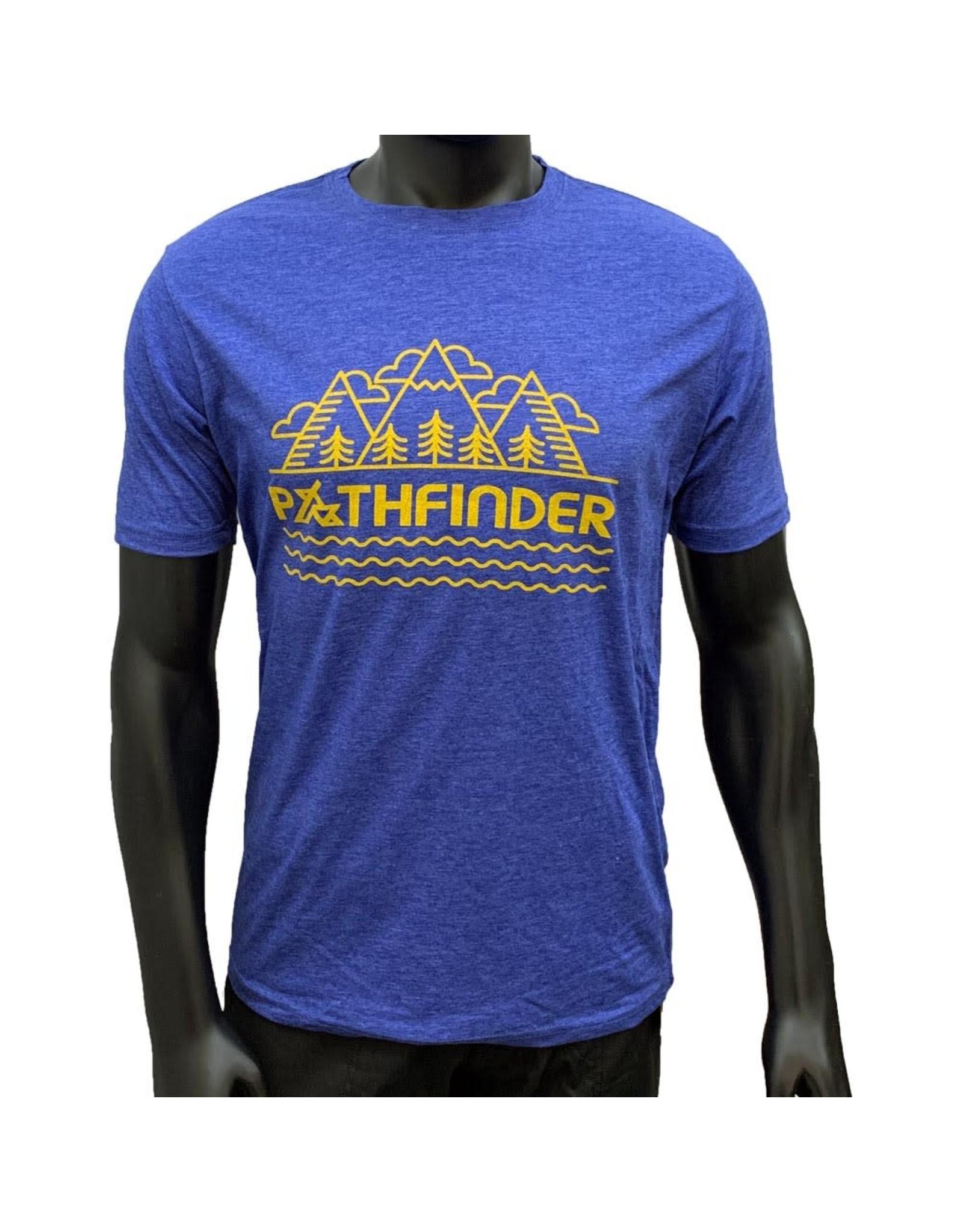 Pathfinder Mountain Poly/Cotton Crew Tee Royal/Gold