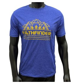 Pathfinder Mountain Poly/Cotton Crew Tee Royal/Gold