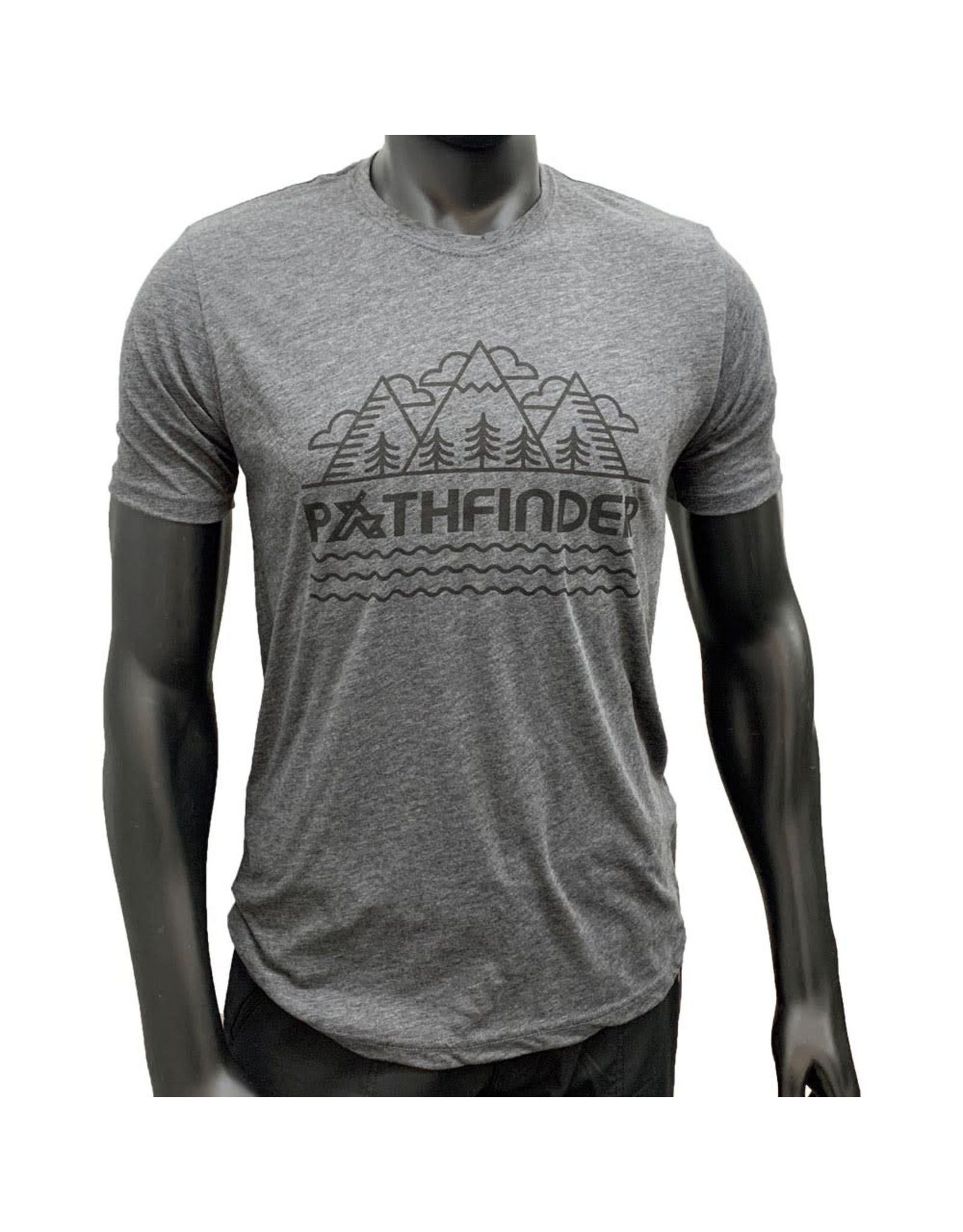 Pathfinder Mountain Poly/Cotton Crew Tee Charcoal/Black