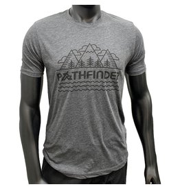 Pathfinder Linescape Crew Tee Charcoal/Black