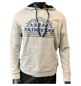 Pathfinder Linescape French Terry Hooded Pullover Heather Grey/Navy