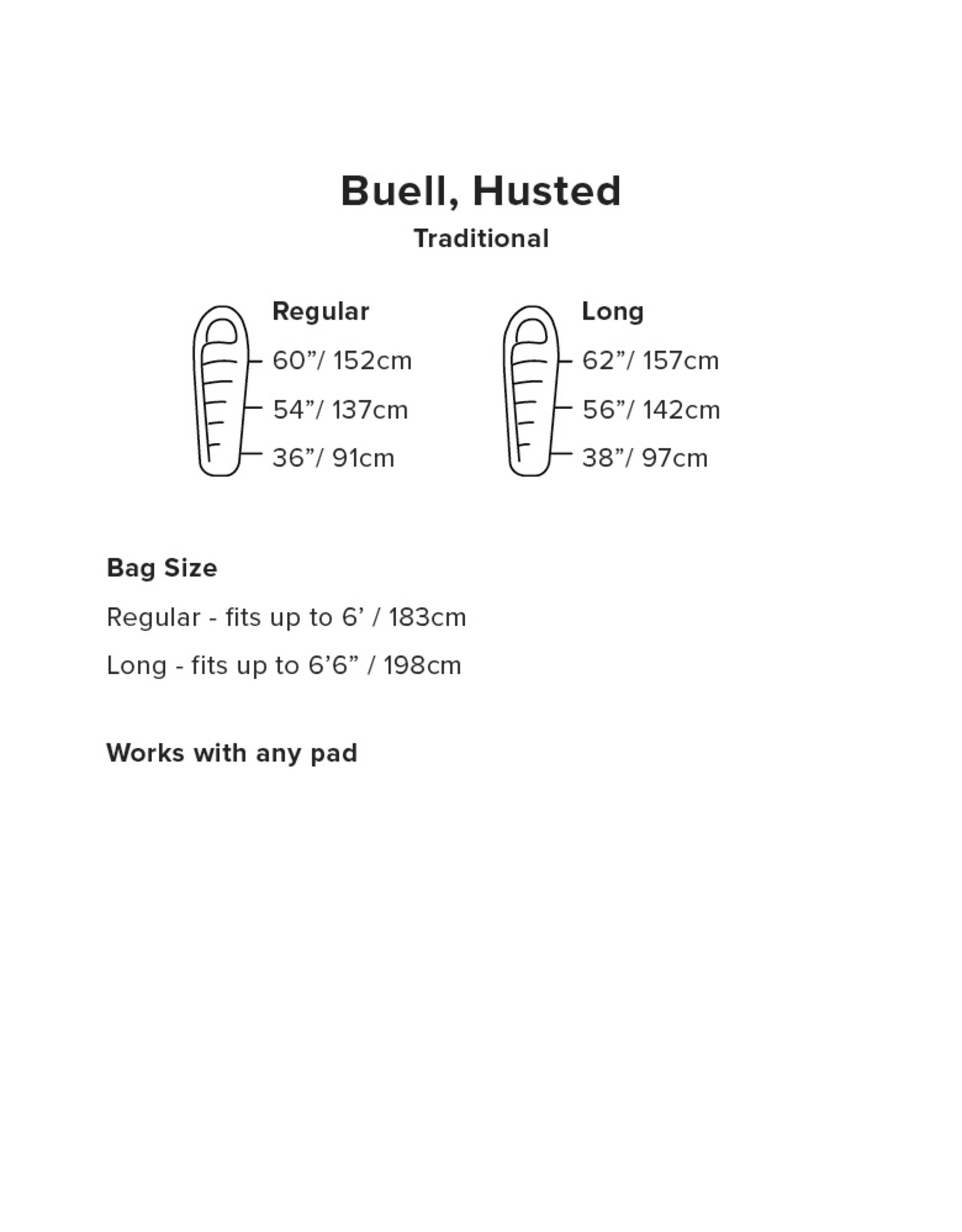 Big Agnes Buell 30 (FireLine Pro) LONG LEFT