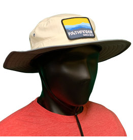 Pathfinder Lite Wide Brim Hat Blue/Gold Mountains