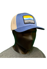 Pathfinder Mesh Back Trucker Blue/Gold Mtns
