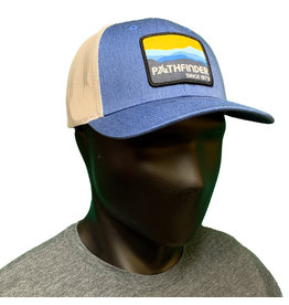 Pathfinder Mesh Back Trucker Blue/Gold Mtns