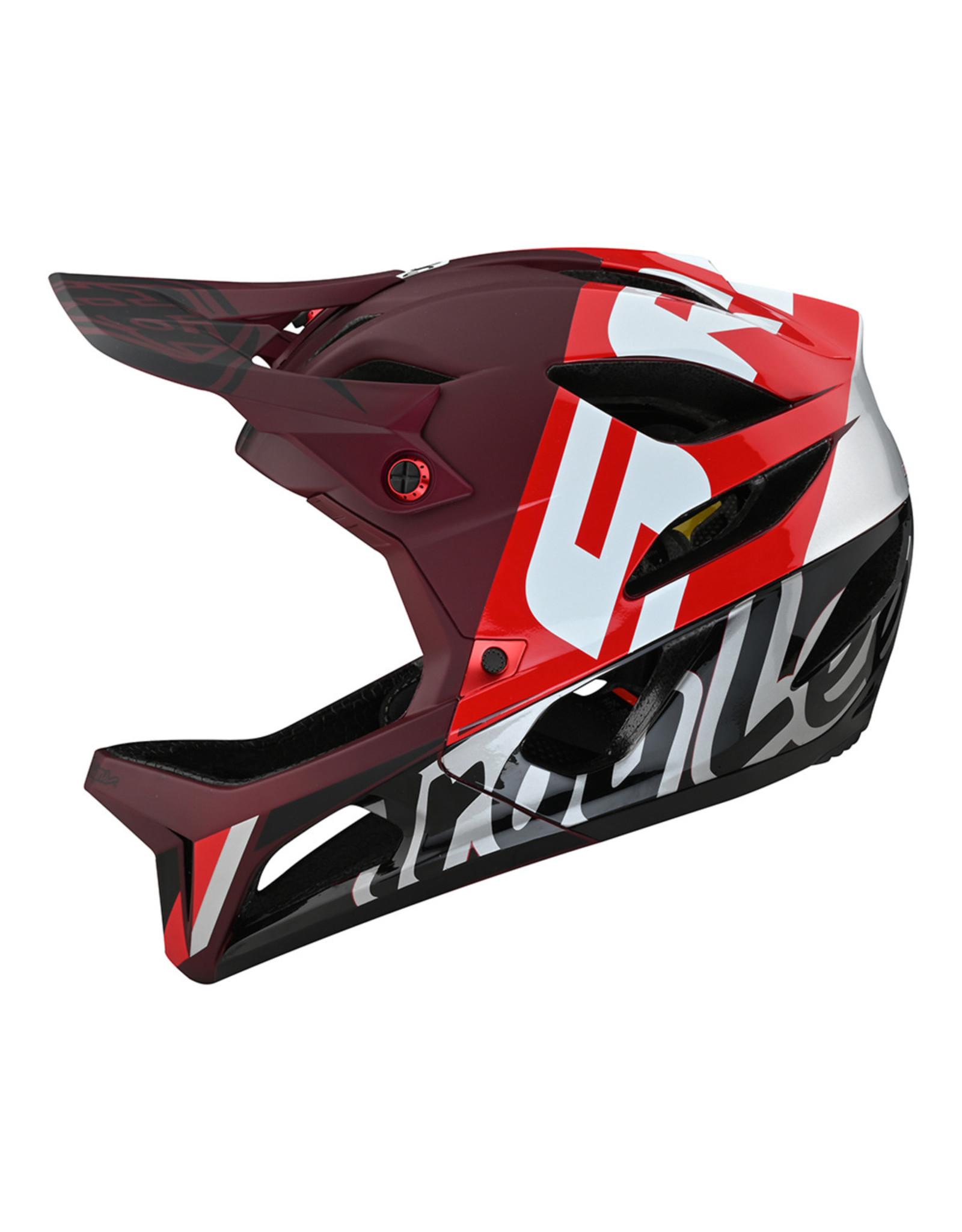 Troy Lee Designs Stage Nova SRAM Helmet BURGUNDY