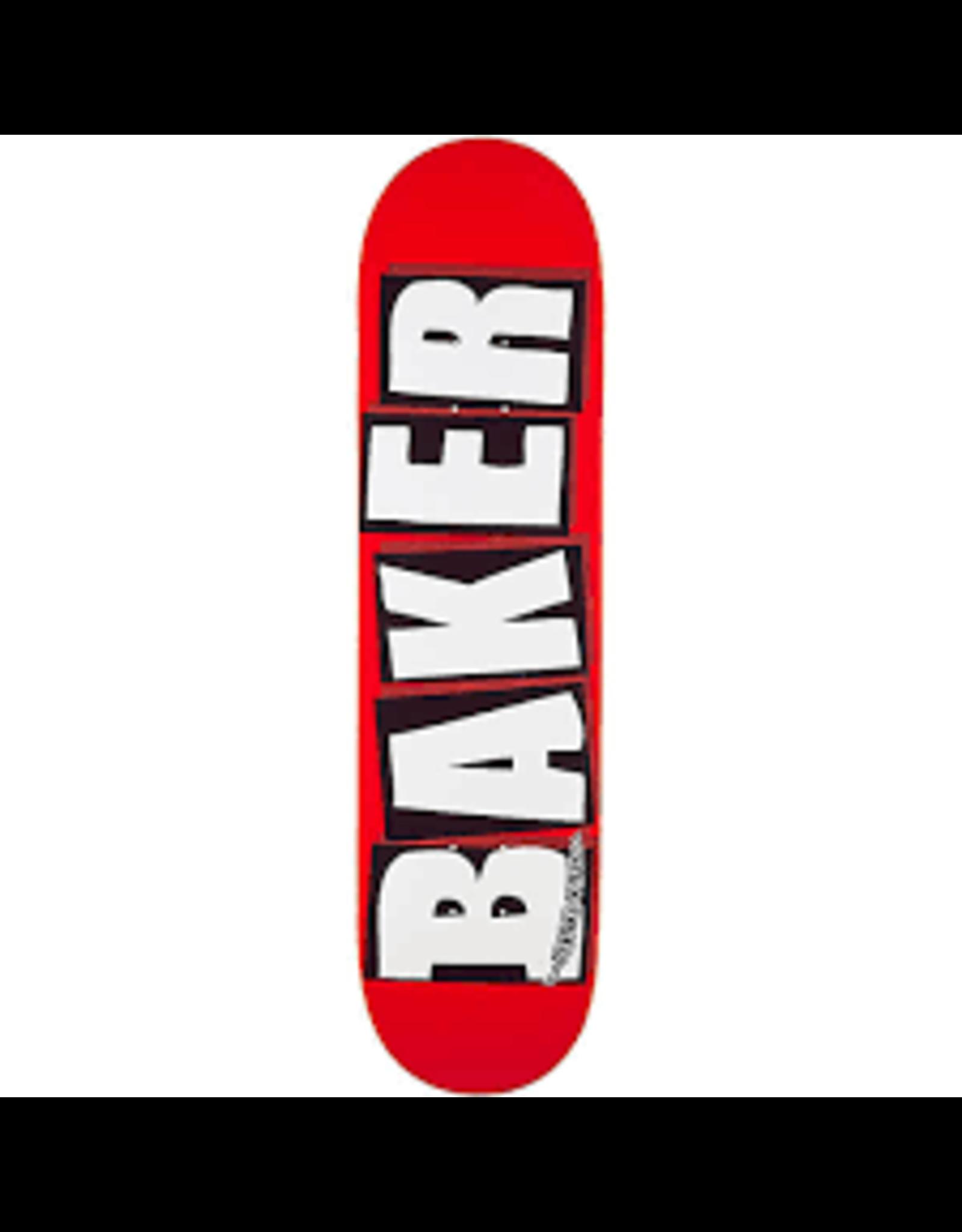 Baker BRAND LOGO DECK-8.12 RED/WHITE